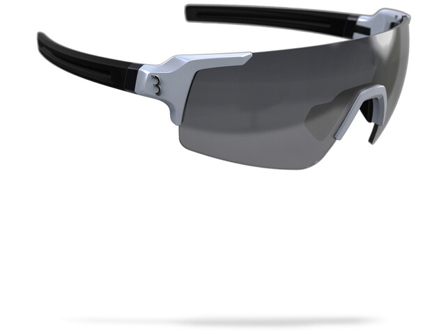 BBB FullView Sports Glasses glossy white/smoke